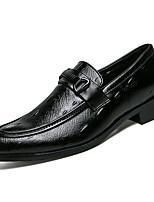 Недорогие -Муж. обувь Полиуретан Дерматин Осень Мокасины Удобная обувь Мокасины и Свитер для на открытом воздухе Белый Черный