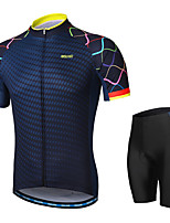 cheap -Arsuxeo Short sleeves Cycling Jersey with Shorts - Black Bike