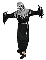 cheap -Skeleton / Skull / Ghost Outfits Unisex Halloween / Carnival / Day of the Dead Festival / Holiday Halloween Costumes Black Solid Colored