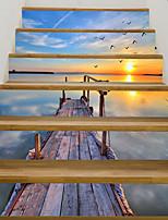 abordables -Autocollants muraux décoratifs - Autocollants muraux 3D Paysage / Nautique Salle de séjour / Bureau / Bureau de maison