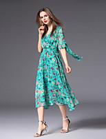 cheap -FRMZ Women's Cute / Basic A Line Dress - Floral Print