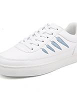 Недорогие -Жен. Обувь Искусственное волокно Осень Удобная обувь Кеды На плоской подошве Белый / синий / Белое / серебро / Белый / Желтый