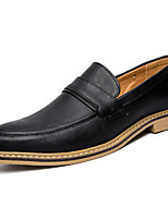 cheap -Men's Shoes Synthetic Microfiber PU Spring Comfort Loafers & Slip-Ons Black / Gray / Light Brown