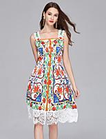 cheap -SHIHUATANG Women's Boho / Street chic A Line Dress - Paisley Lace / Print
