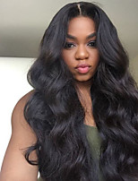 cheap -Remy Human Hair Full Lace Wig Brazilian Hair / Body Wave Wavy 150% Density Natural Hairline / With Bleached Knots Women's Long Human Hair Lace Wig