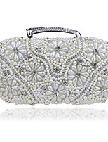 cheap -Women's Bags Pearl / Rhinestones Evening Bag Beading / Pearls for Wedding / Event / Party Gold / Black / Silver