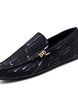 cheap -Men's Shoes Fabric Summer Moccasin Loafers & Slip-Ons for Outdoor Black / White Black / Red