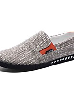 cheap -Men's Shoes Fabric Fall Comfort Loafers & Slip-Ons Black / Dark Blue / Khaki