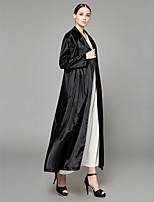 abordables -Abaya Femme - Couleur Pleine Chic de Rue / Sophistiqué