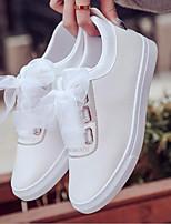 Недорогие -Жен. Обувь Полиуретан Весна Удобная обувь Кеды На плоской подошве Черный / Красный / Зеленый