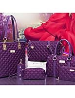 cheap -Women's Bags Nylon Bag Set 6 Pieces Purse Set Zipper Red / Purple / Fuchsia