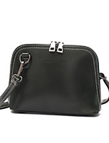 cheap -Women's Bags PU Shoulder Bag Zipper Black / Dark Brown / Wine