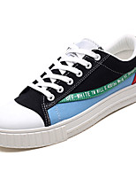 cheap -Men's Shoes Canvas / Fabric Fall Comfort Sneakers White / Black