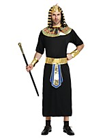 cheap -Egyptian Costume Outfits Men's Halloween / Carnival / Day of the Dead Festival / Holiday Halloween Costumes Black Solid Colored /