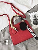 cheap -Women's Bags PU Tote Zipper Black / Red / Yellow