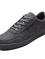 cheap -Men's Shoes PU Fall Comfort Sneakers Black / Gray / Red