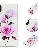 abordables -Coque Pour Apple iPhone X / iPhone 8 Plus / iPhone XS Antichoc / Motif Coque Fleur Flexible TPU pour iPhone XS / iPhone XR / iPhone XS Max