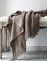 baratos -Outros Acessórios, Impressão Reactiva Sólido Algodão / Poliéster cobertores