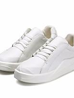 cheap -Men's Shoes PU(Polyurethane) Spring Comfort Sneakers White / Black / Black / White
