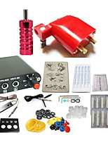 cheap -Tattoo Machine Starter Kit 1 rotary machine liner & shader 1 x aluminum grip 10pcs pcs Tattoo Needles Casual / Practise