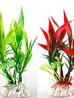 abordables -Décoration d'aquarium Ornements / Plante d'eau Lavable / Non toxique & Sans Goût / Décoration Plastique