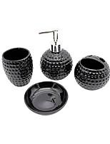 cheap -Bathroom Accessory Set Toothbrush Holder Soap Dishes & Holders Creative Ceramic 4pcs - Hotel bath Bathroom