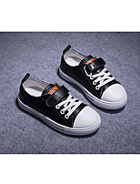 cheap -Girls' Boys' Shoes Leather Spring & Fall Comfort Sneakers Magic Tape for Kids Outdoor White Black