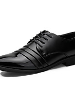 cheap -Men's Shoes Synthetic Microfiber PU Spring / Fall Comfort Oxfords Black