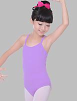 abordables -Danse classique justaucorps Fille Entraînement / Utilisation Coton Ruché Sans Manches Taille moyenne Collant / Combinaison