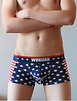 cheap -Men's Boxers Underwear - Print, Geometric / Color Block Low Rise
