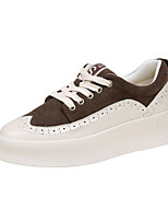 cheap -Women's Shoes Flocking Spring Fall Comfort Sneakers Creepers Round Toe for Casual Outdoor Black Khaki