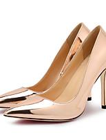 abordables -Femme Chaussures Polyuréthane Printemps été Escarpin Basique Chaussures à Talons Talon Aiguille Bout pointu Argent / Rouge / Champagne