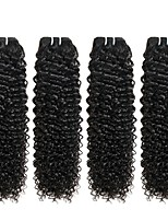 cheap -Indian Hair Curly Natural Color Hair Weaves / Human Hair Extensions 4 Bundles Human Hair Weaves Best Quality / Hot Sale / For Black Women Natural Black Human Hair Extensions Women's