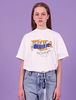 abordables -camiseta de mujer - carta de cuello redondo