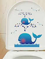 cheap -Toilet Stickers - Plane Wall Stickers Abstract Bathroom