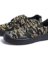 cheap -Men's Shoes Canvas Spring Comfort Sneakers Army Green / Light Brown / Khaki