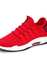 cheap -Men's Shoes Net / Tulle Summer Comfort / Light Soles Sneakers Black / Red