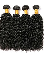 cheap -Indian Hair Curly Natural Color Hair Weaves / Human Hair Extensions 4 Bundles Human Hair Weaves Extention / Hot Sale Natural Black Human Hair Extensions All