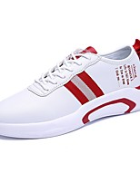 cheap -Men's Shoes PU Summer Comfort Sneakers White / Black / Red