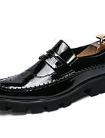 cheap -Men's Shoes Synthetic Microfiber PU Fall Comfort Loafers & Slip-Ons Gold / White / Black