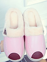 cheap -Women's Slippers Moccasin Slippers Casual PU solid color