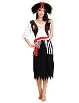 economico -Pirati dei Caraibi Completi Per donna Halloween / Carnevale / Giorno della morte Feste / vacanze Costumi Halloween Nero Tinta unita / A