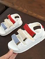 Недорогие -Мальчики Обувь Полиуретан Лето Удобная обувь Сандалии На липучках для Белый / Черный / Розовый
