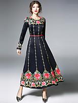 cheap -SHIHUATANG Women's Vintage / Street chic Swing Dress - Floral Print