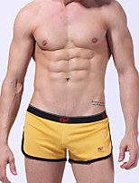 cheap -Men's Briefs Underwear Solid Colored Low Rise