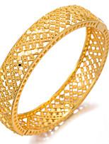 baratos -Mulheres Bracelete / Pulseiras Algema - Chapeado Dourado Étnico Pulseiras Dourado Para Festa / Presente