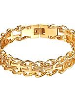 abordables -Homme 1 Chaînes & Bracelets - Mode Croix Or Noir Argent Bracelet Pour Quotidien