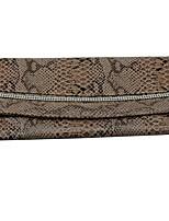 cheap -Women's Bags PU Clutch Crystals Black / Khaki