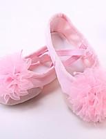 abordables -Fille Chaussures de Ballet Toile Plate Talon Cubain Chaussures de danse Rouge / Rose / Chair / Utilisation