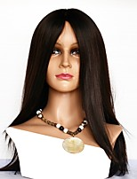cheap -Human Hair Full Lace Wig Brazilian Hair Straight 130% Density Best Quality / Comfy Natural Mid Length Human Hair Lace Wig